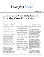 High Court's Next Hate Speech Case May Come From Conn.