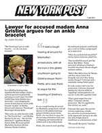 Lawyers for accused madam Anna Gristina argue for an ankle bracelet