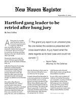 Hartford gang leader to be retried after hung jury