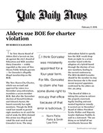 Alders sue BOE for charter violation