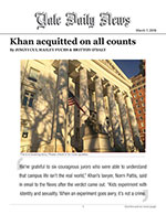 Khan acquitted on all counts