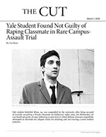 Yale Student Found Not Guilty of Raping Classmate in Rare Campus-Assault Trial