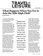 What Happens When You Try to Join the Mile High Club?
