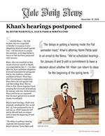 Khan's hearings postponed
