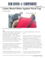 Labor Board Rules Against Fired Cop