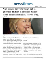 Alex Jones' lawyers won't get to question Hillary Clinton in Sandy Hook defamation case. Here's why.