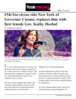 #MeToo circus rids New York of Governor Cuomo, replaces him with first female Gov. Kathy Hochul